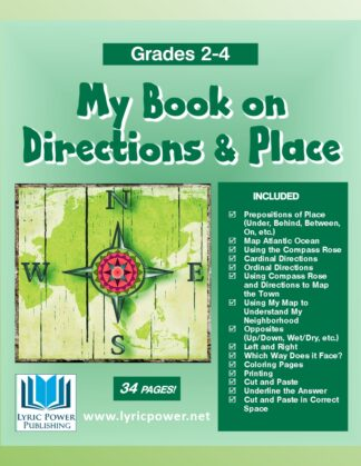 book cover book on directions and place