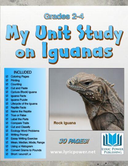 book cover my unit on iguanas grades 2-4