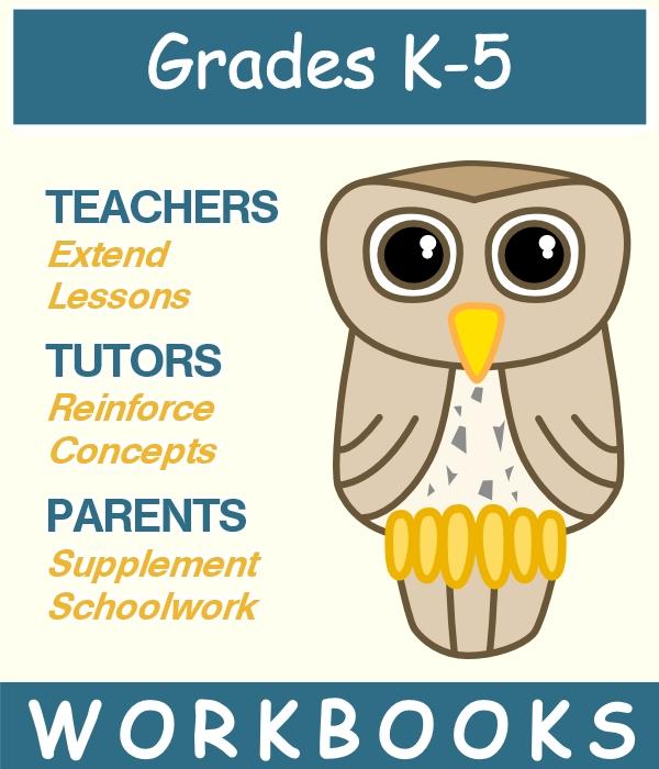 graphic for K-5 workbooks