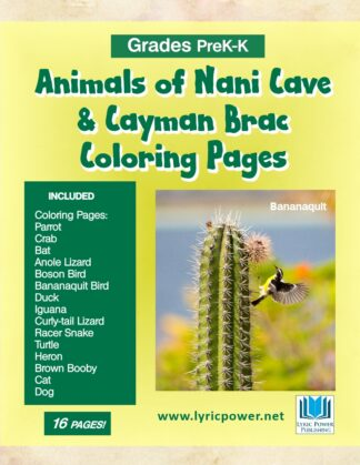 book cover animals nani cave coloring pages