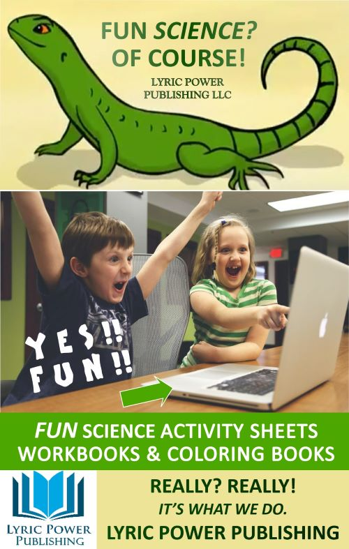 infographic about fun science education activity sheets and workbooks