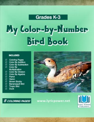 book cover color by number bird book gardes k-3
