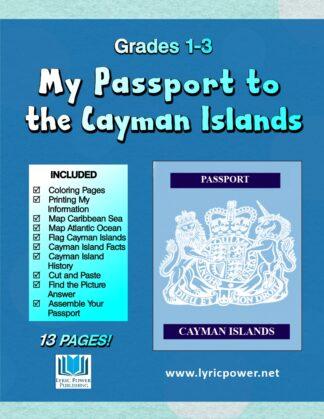 book cover my passport caymans grades 1-3