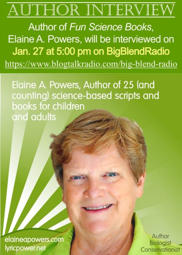 infographic about interview of author Elaine A. Powers