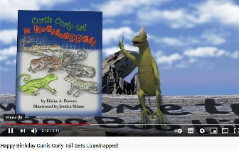 screenshot YouTube Curtis Lizardnapped