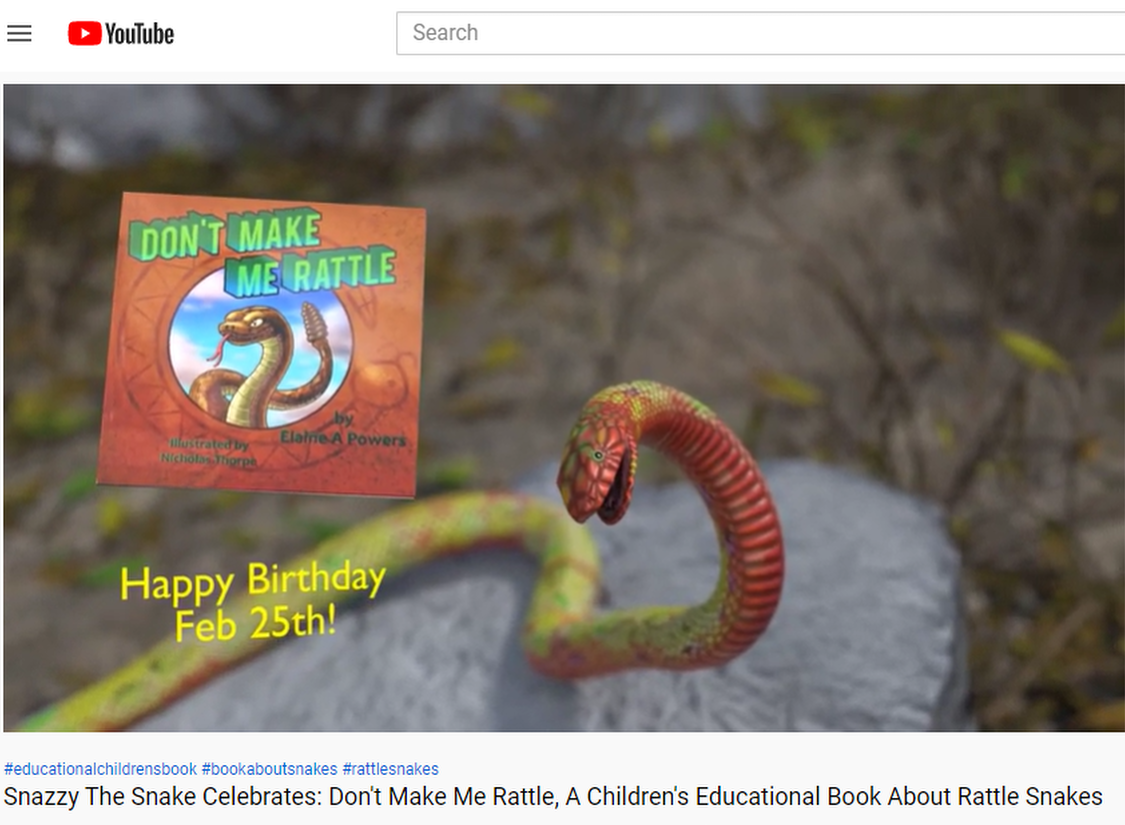 screenshot from YouTube video book birthday Feb 25