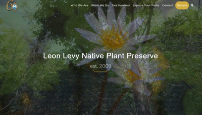 screenshot of Leon Levy Plant Preserve web page