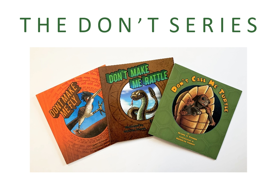 a photo of three books from The Don't Series
