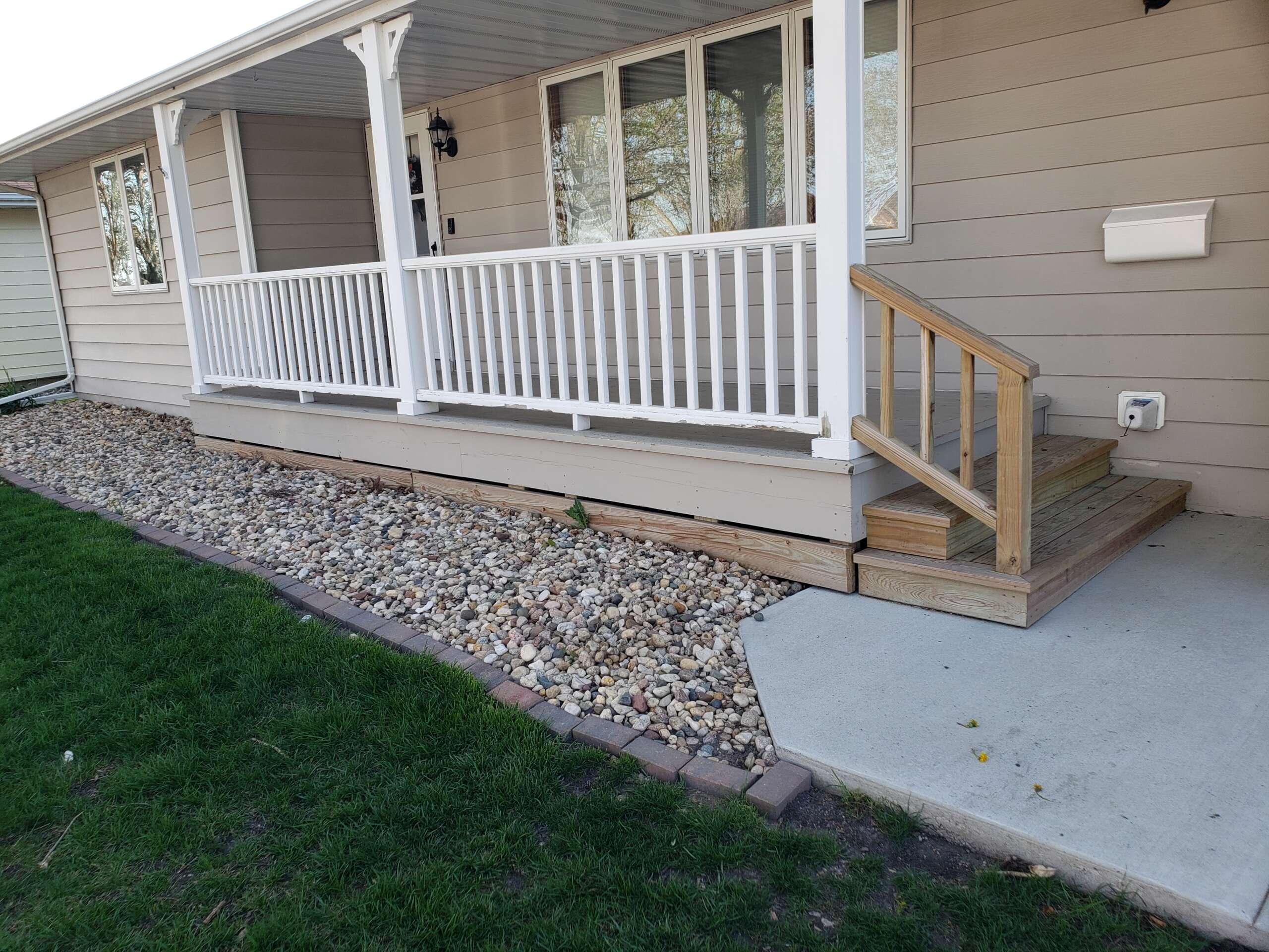 Before Exterior Porch Paint