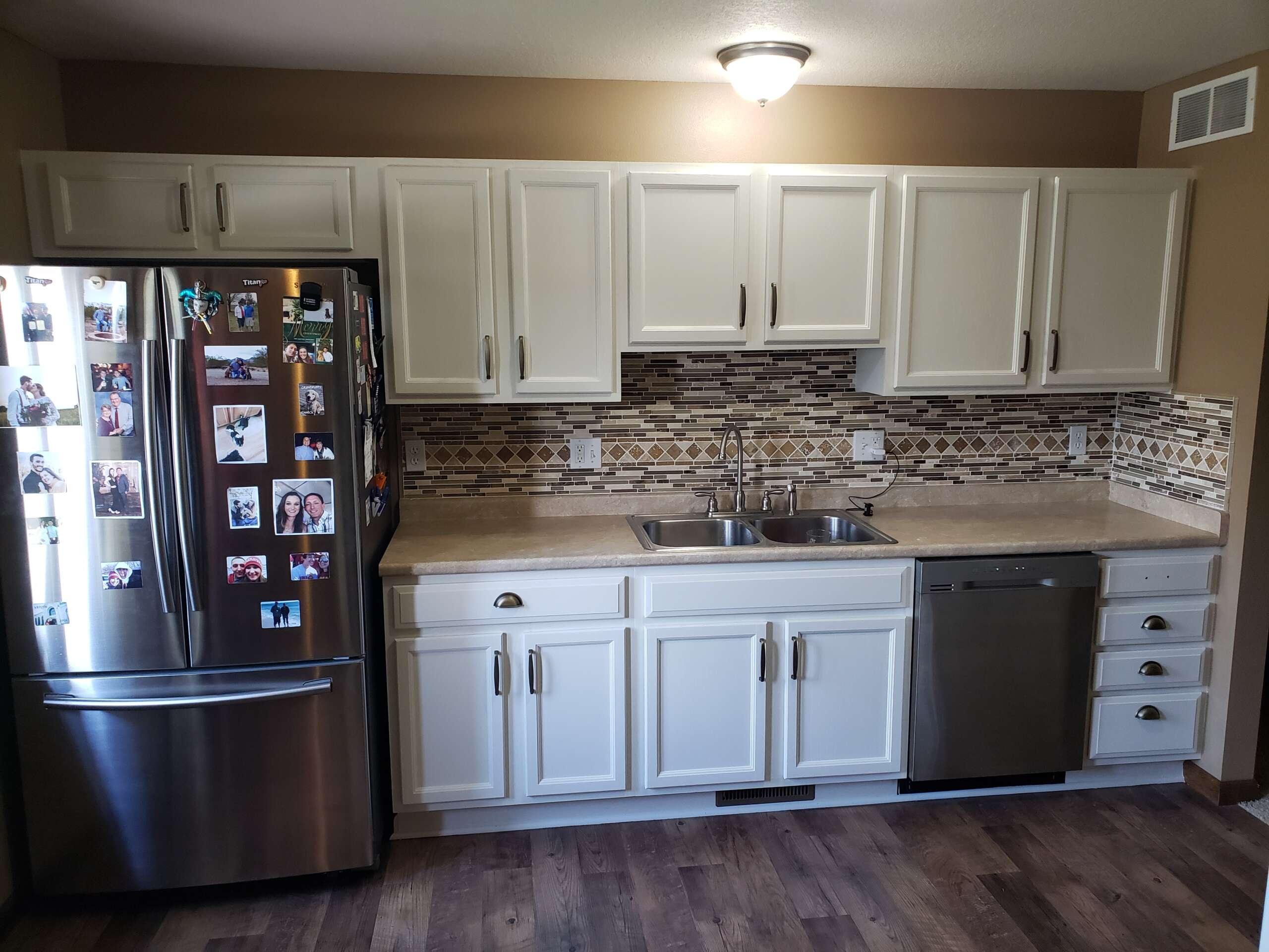 After Kitchen Cabinet Refinish