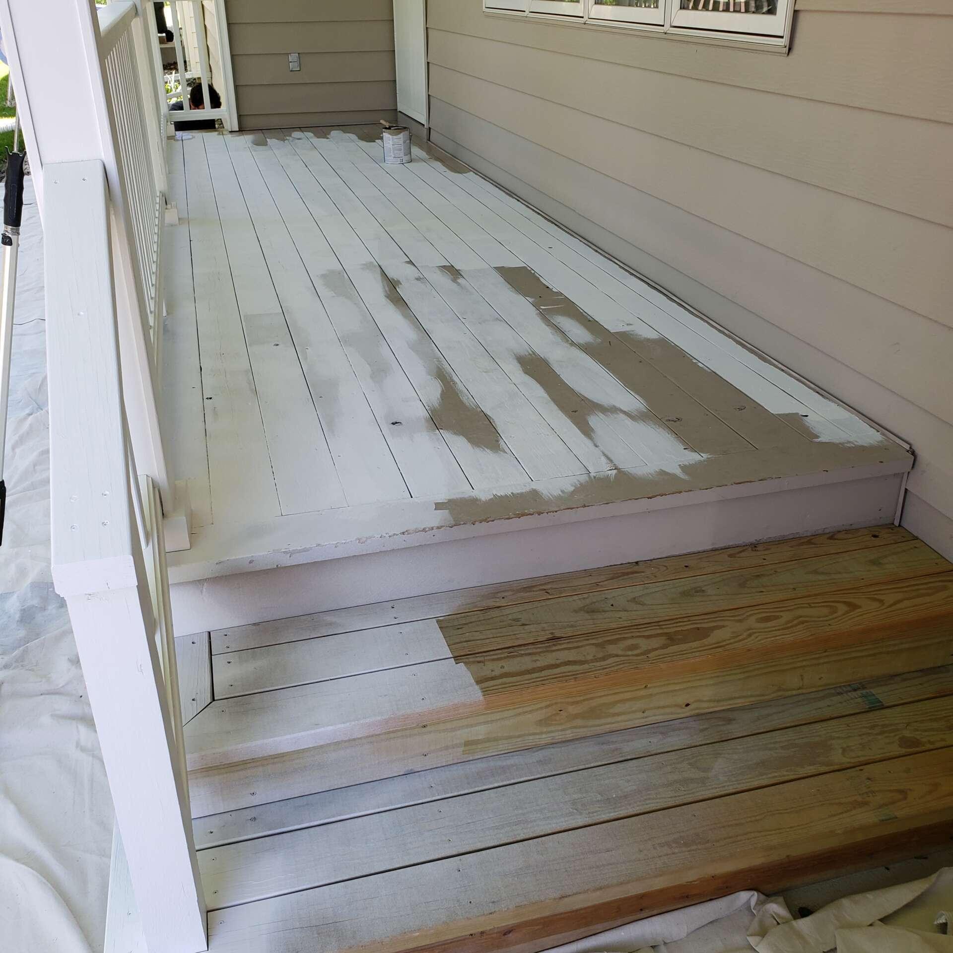 During Exterior Porch Paint