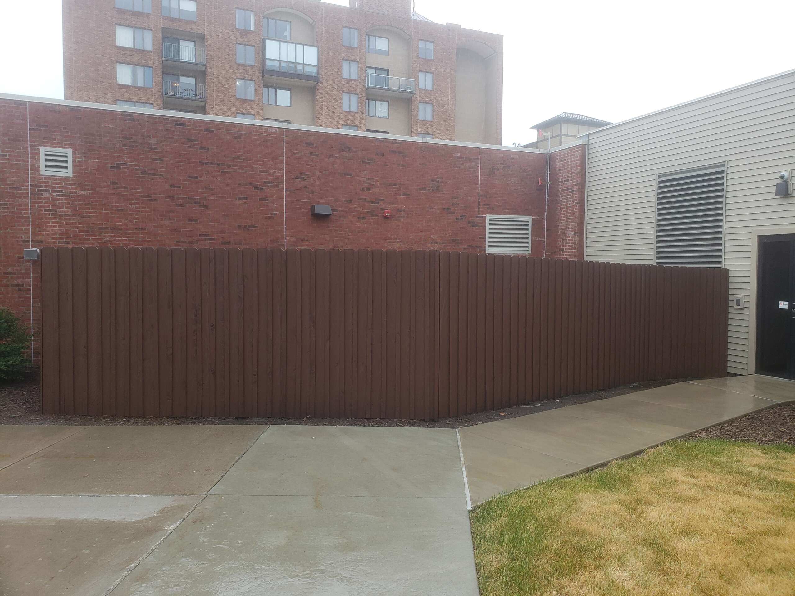 Wooden Fence sealed