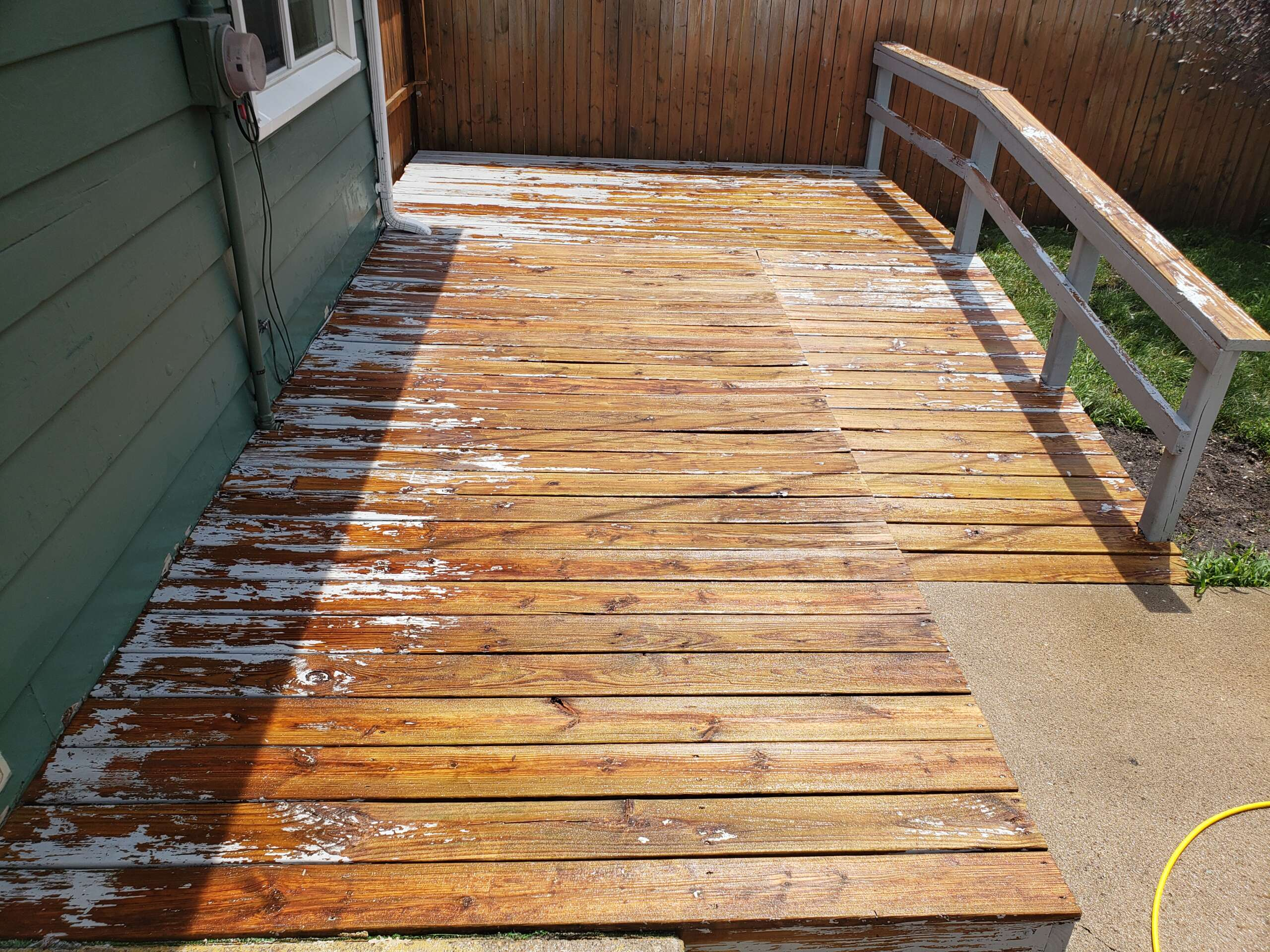Before Painting Deck