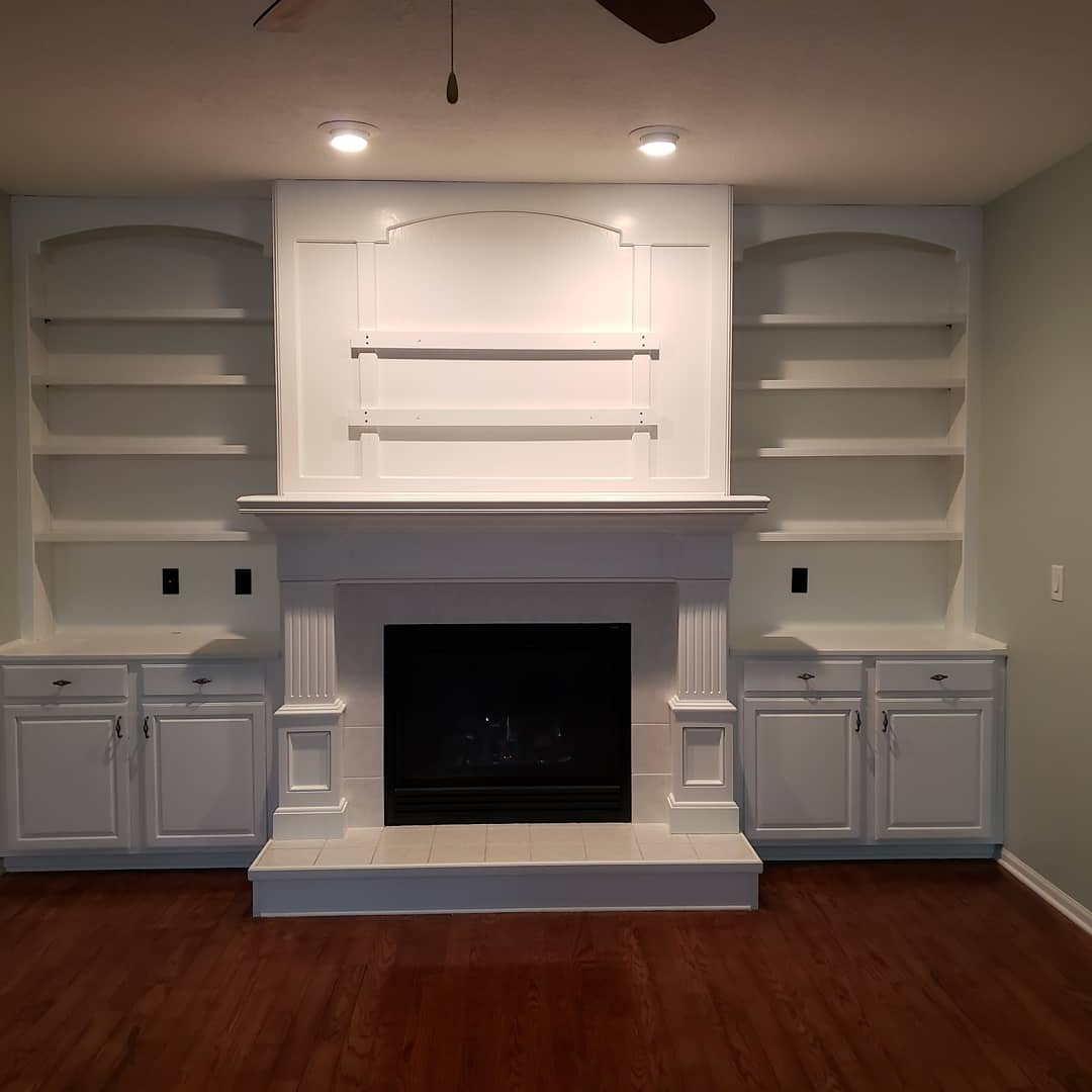 After Fireplace Refinish