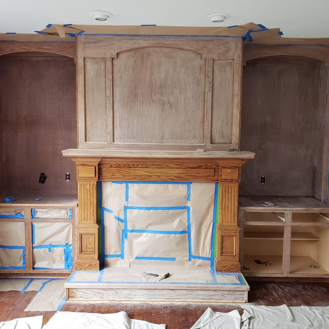 Before Fireplace Refinish