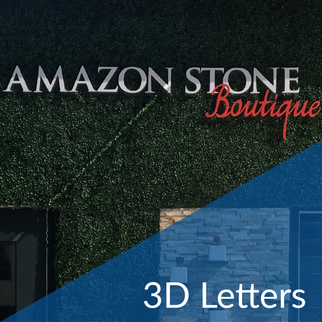 3D Letters / Three Dimensional Letters