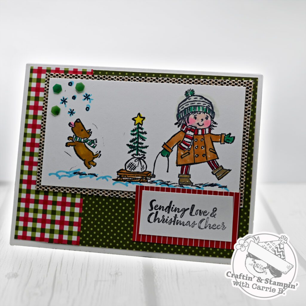 A Christmas Card made during World Cardmaking Day 2021
