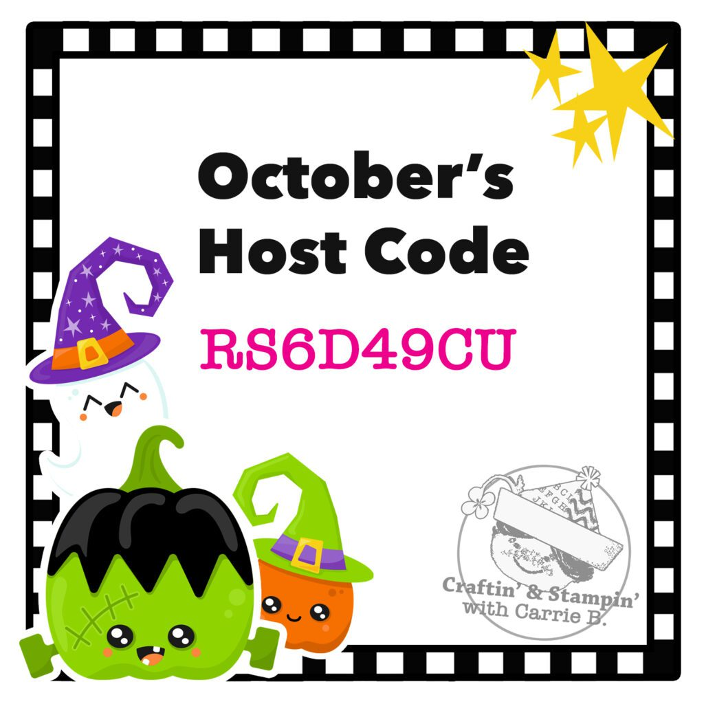 October 2021 Host Code for Carrie Button