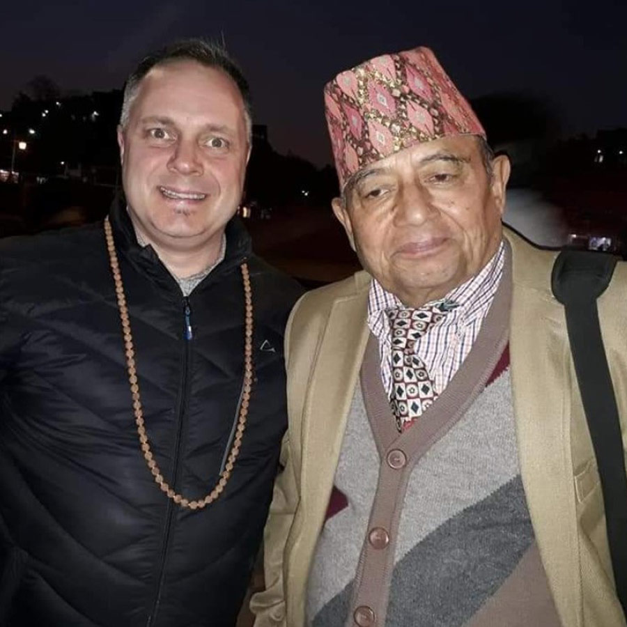 With The Nepalese Minister