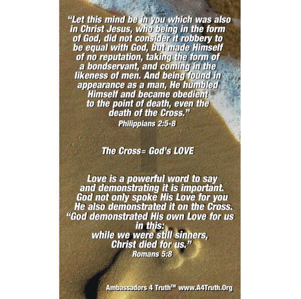 Cross Gospel Tract Back