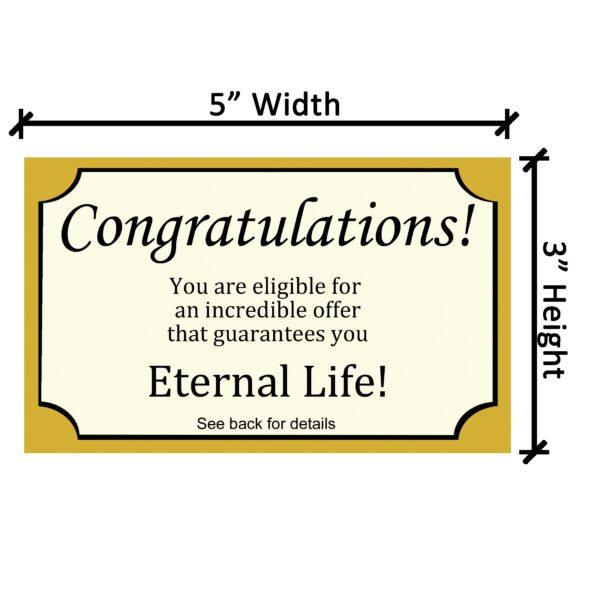 Congrats Tract Dimensions