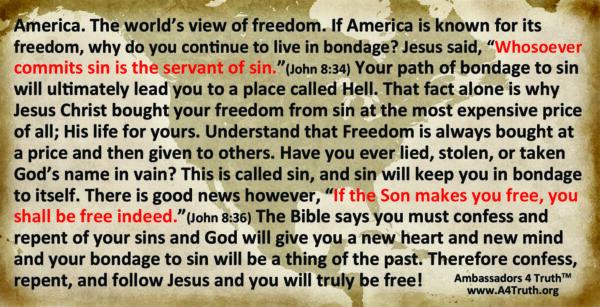 Freedom Gospel Tract Back