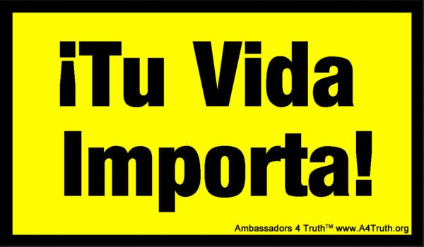 Your Life Matters Business Card Gospel Tract Spanish_Front
