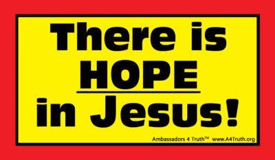 Hope in Jesus Sticker_Front