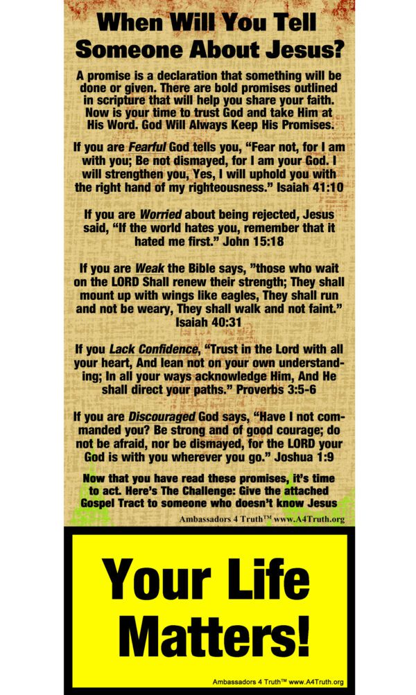 Christian Gospel Tract Front