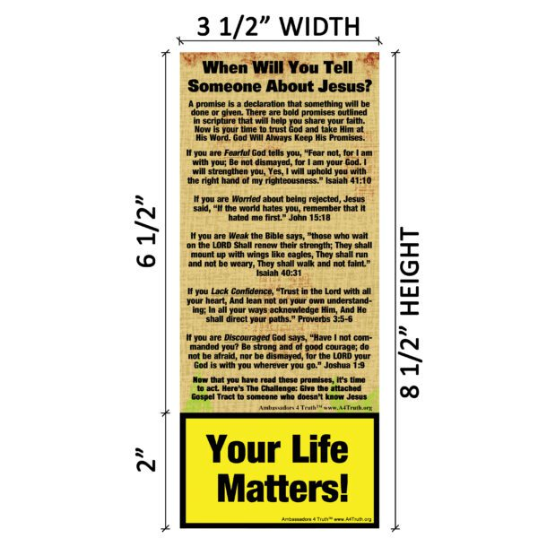 Christian Tract Dimensions