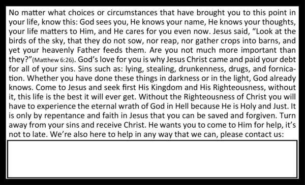 Help is Here Gospel Tract_Back