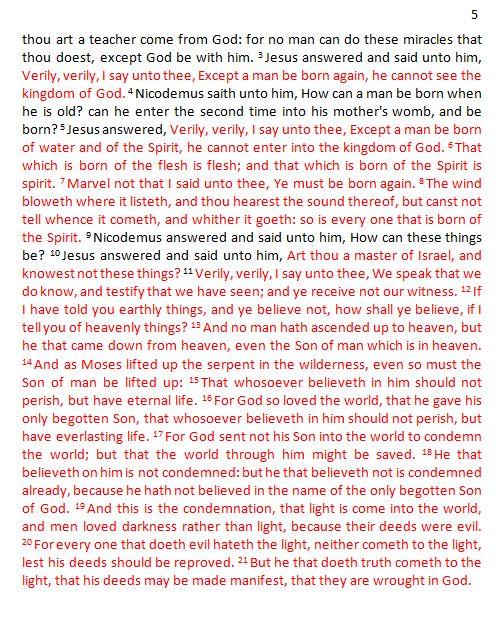 Gospel of john Red Letter