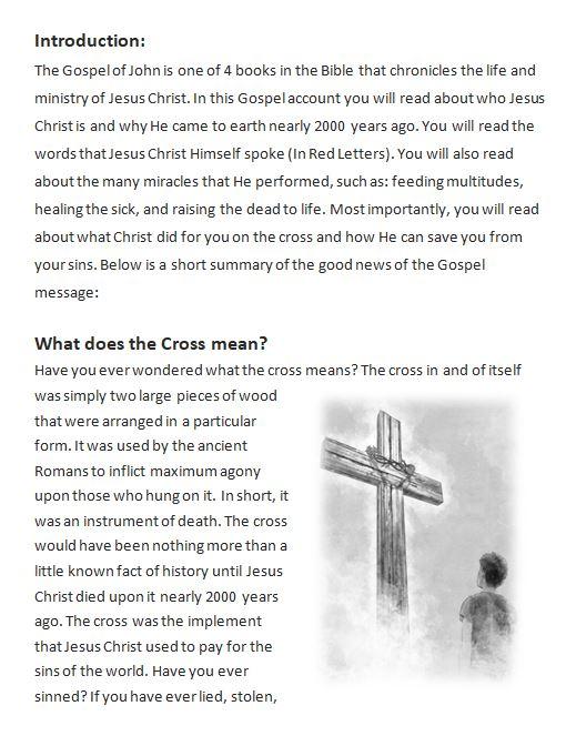 Gospel of John Gospel Presentation