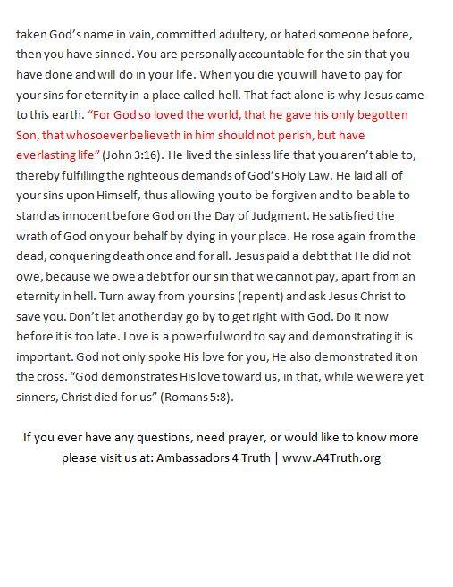 Gospel of John Gospel Presentation Second Page