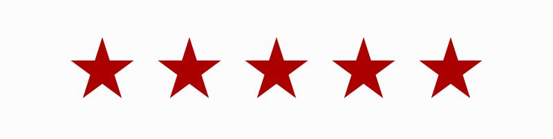 5 stars showing highest review for Realtor Ledea