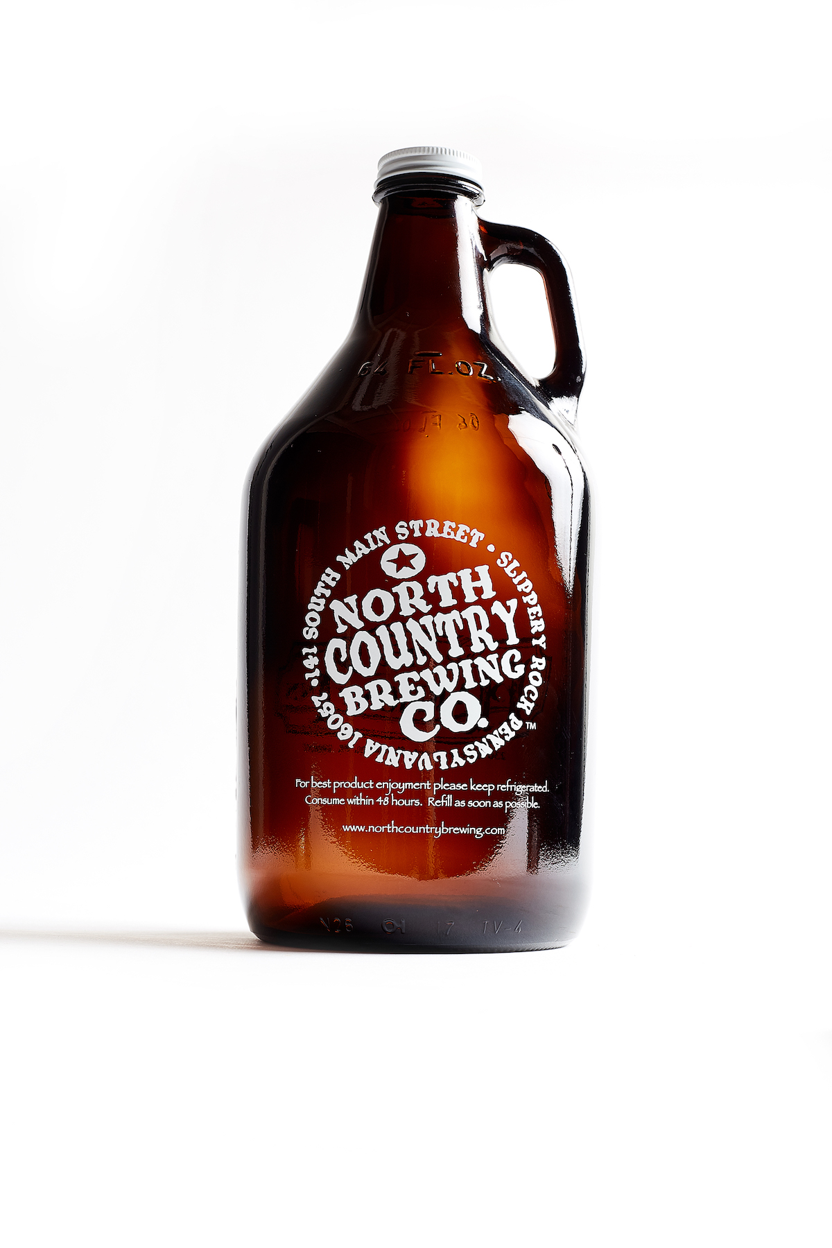 64oz. Amber Growler
