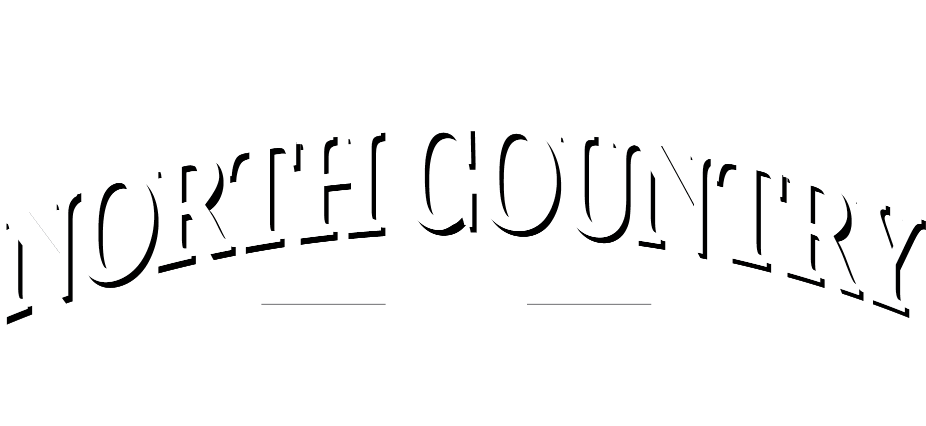 North Country Logo in White