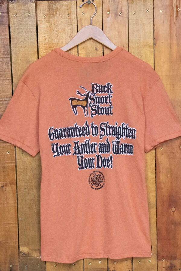 "Buck Snort Stout ""Straighten Your Antler"" T-Shirt - Back"
