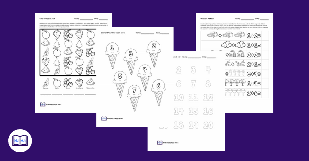 Free printable math worksheets - 2nd grade math worksheets - 1st grade math worksheets
