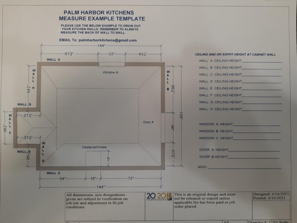 Measurement Example Template form
