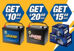 Get up to a $20 rebate on NAPA Batteries