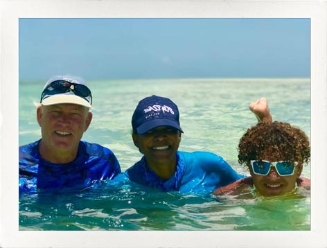 Tad and family enjoying the beach