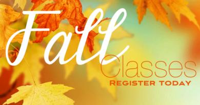 Fall/Winter Class Schedule Now Up