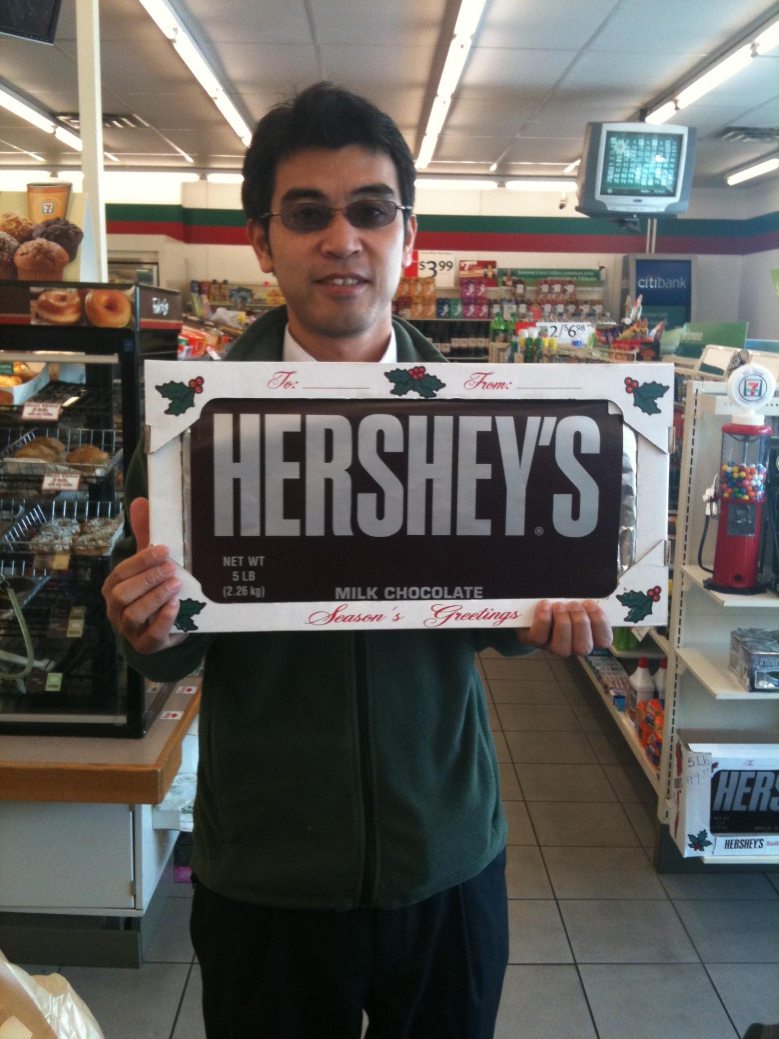 巨大チョコレート!
