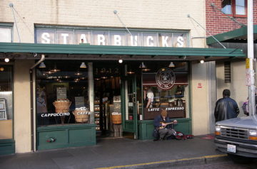 Starbucks's first store in Pike Place Market