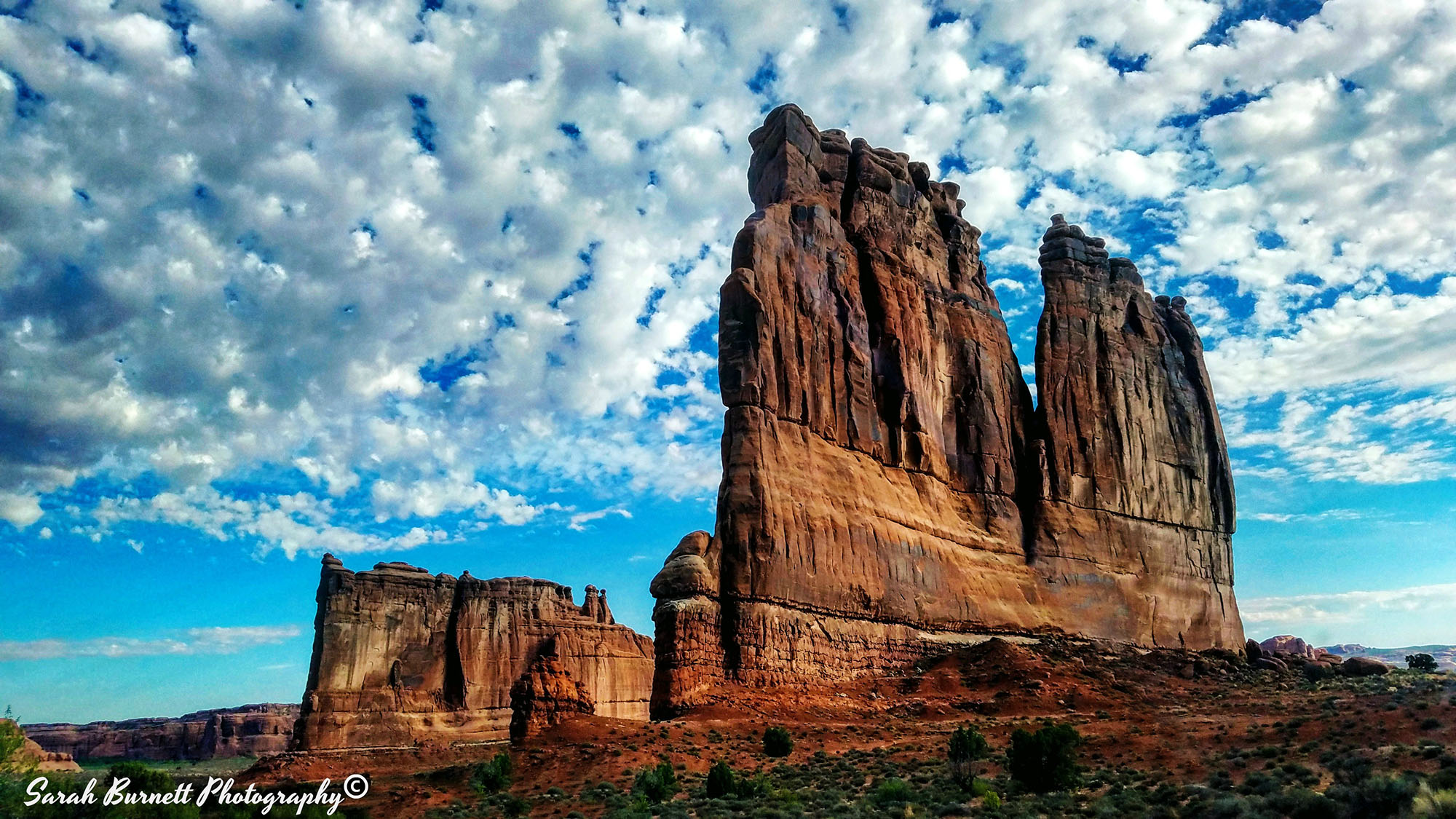 Towers in Arches National Park