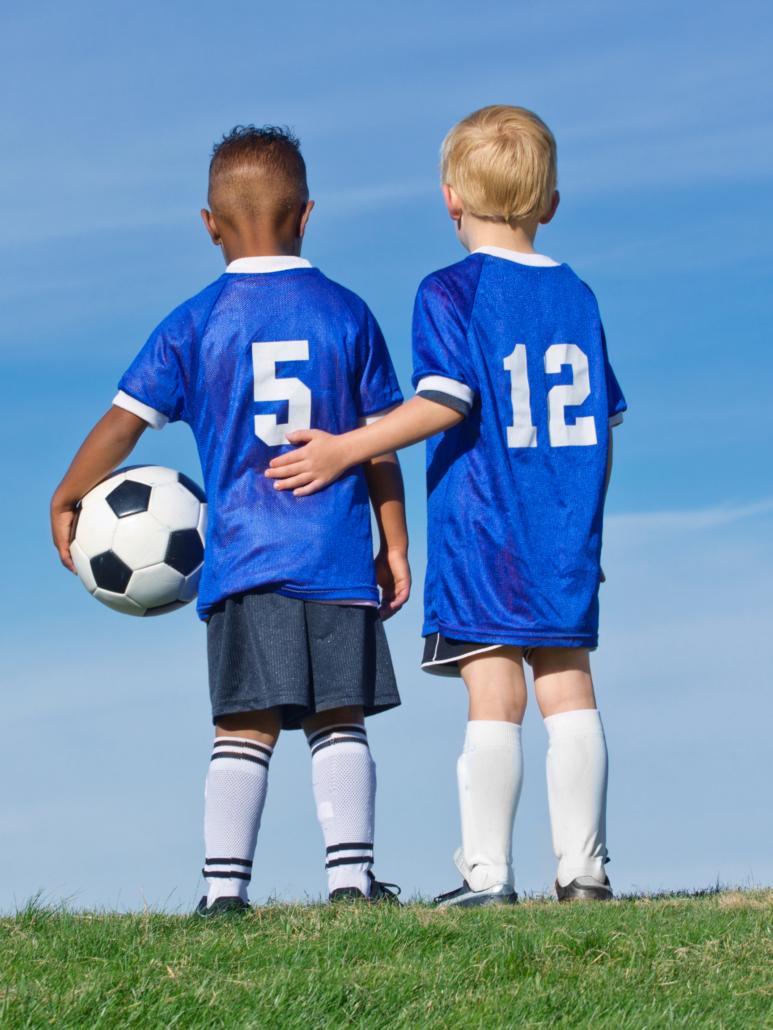 kids soccer friends