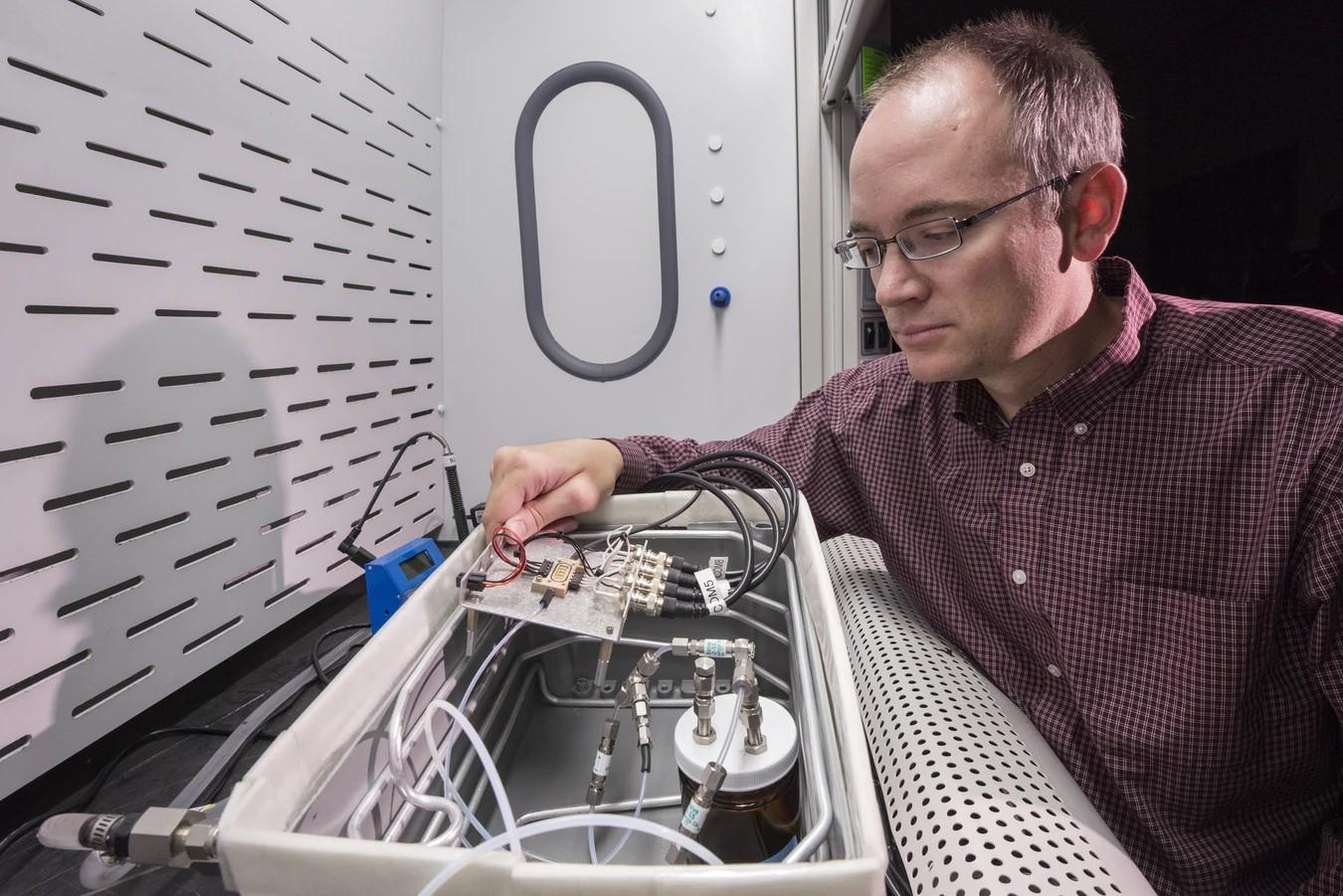 EMS Engineer working on sensors in prototype development