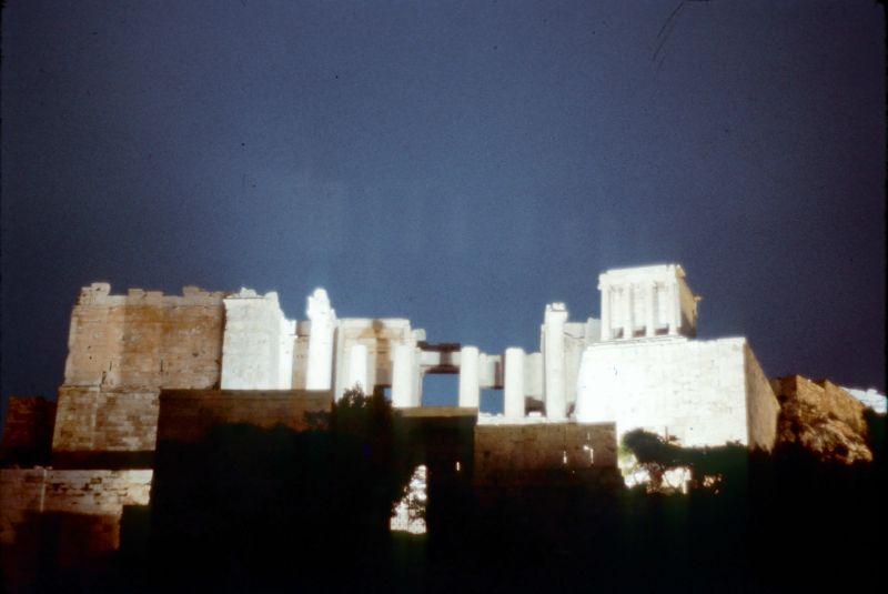 Acropolis by night 1969 slide 2