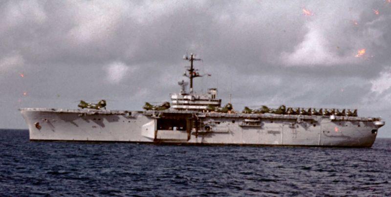 LPH-9 Guam cruising the med 1969